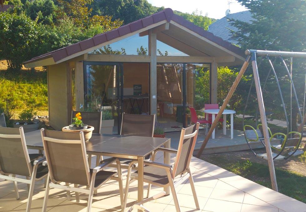 bureau de jardin atelier d 39 artiste lenia abri de voiture carport abri de spa sauna d. Black Bedroom Furniture Sets. Home Design Ideas